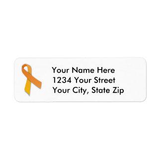 Kundengerechtes Leukämie-Band-Adressen-Etikett Rücksendeetikett