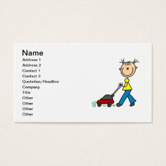 Kundengerechtes Mädchen-mähende Visitenkarte
