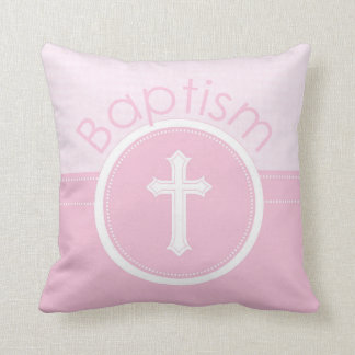 Kundengerechtes, rosa Mädchen-Kind der Gott-Taufe Kissen