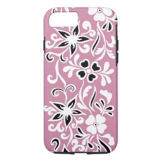 Kundengerechtes schwarzes u. weißes Blumenmuster iPhone 8/7 Hülle