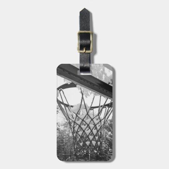 Kundengerechtes Schwarzweiss-Snowy-Basketball-Netz Kofferanhänger