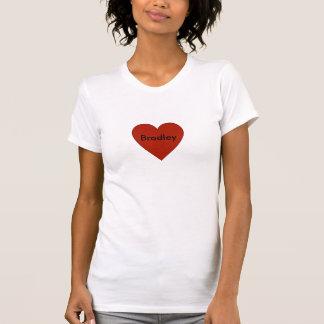 Kundengerechtes Shirt des einfachen roten Herzens