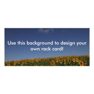 Kundengerechtes Sonnenblumefeld Werbekarte