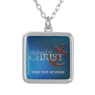 Kundengerechtes verankert in Christus Versilberte Kette