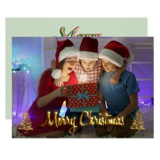 Kundengerechtes Weihnachtskarten-Foto scherzt Karte