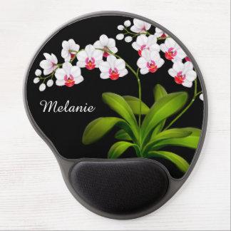 Kundengerechtes weißes Motten-Orchideen-Blumengel Gel Mousepad