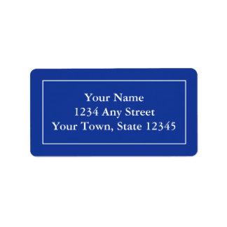 Kundenspezifische Adressen-Etiketten - dunkles Adressaufkleber