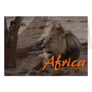 Kundenspezifische afrikanische Löweanmerkungskarte Karte