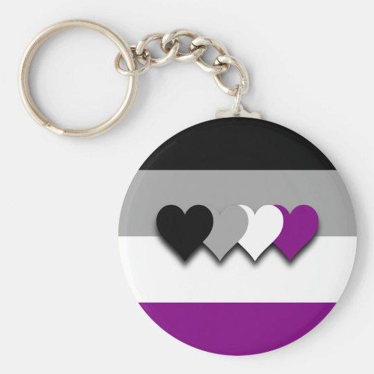 Kundenspezifische Asexualityflagge Keychain Schlüsselanhänger