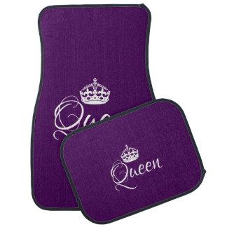 Kundenspezifische Auto-Boden-Matten - Königin lila Autofußmatte