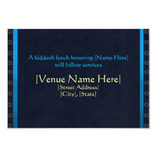 Kundenspezifische Bar Mitzvah Empfangs-Karten 8,9 X 12,7 Cm Einladungskarte