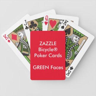 Kundenspezifische Bicycle® Poker-Spielkarten GRÜNE Bicycle Spielkarten