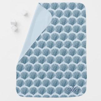 Kundenspezifische blaue Beachy Baby-Decke Kinderwagendecke