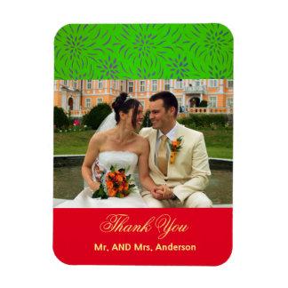 Kundenspezifische BlumenGastgeschenk Hochzeit Magnet
