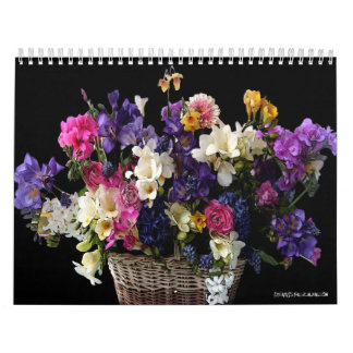 Custom Floral 2-Page Calendars