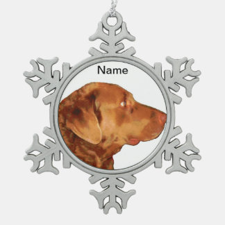 Kundenspezifische Chesapeake Schneeflocken Zinn-Ornament