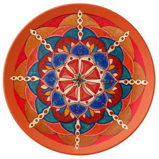 Kundenspezifische dekorative Porzellan-Platte Teller