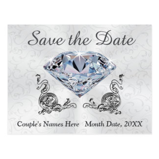 Kundenspezifische Diamant-Hochzeits-Save the Date Postkarten