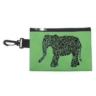Kundenspezifische Elefant-Silhouette-Tasche Kulturtasche