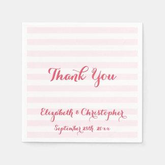 Kundenspezifische elegante Hochzeit danken Ihnen Servietten
