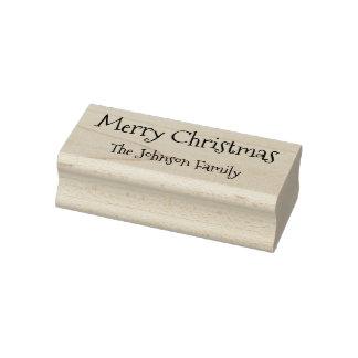 Kundenspezifische Familienname-frohe Weihnachten Gummistempel