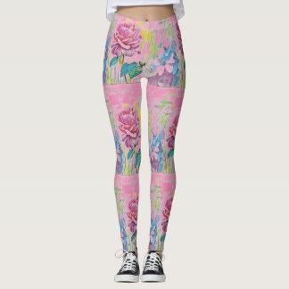 kundenspezifische Farbe mit Blumen Leggings