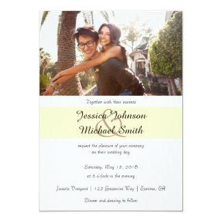 Kundenspezifische Foto-Hochzeit 12,7 X 17,8 Cm Einladungskarte