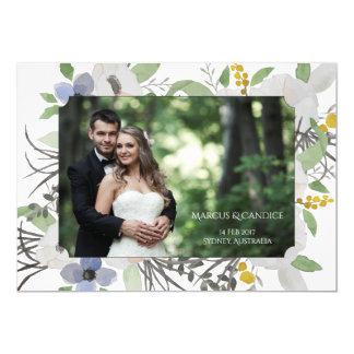 Kundenspezifische Foto-Hochzeits-Einladungs-Karte 12,7 X 17,8 Cm Einladungskarte
