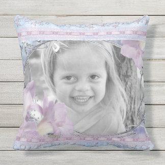 Kundenspezifische Foto-Rahmen-lila Kissen Für Draußen