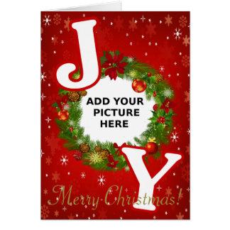 Kundenspezifische Foto Weihnachten-FREUDE addieren Karte