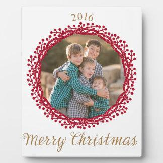 Kundenspezifische Fotoplakette Weihnachtsbeere Fotoplatte