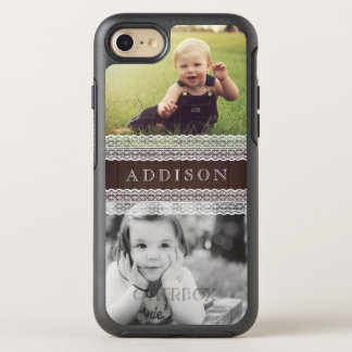 Kundenspezifische Fotos u. nennen   dunkles Holz OtterBox Symmetry iPhone 7 Hülle