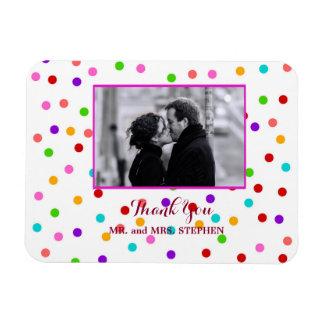 Kundenspezifische Gastgeschenk Hochzeit danken Magnet