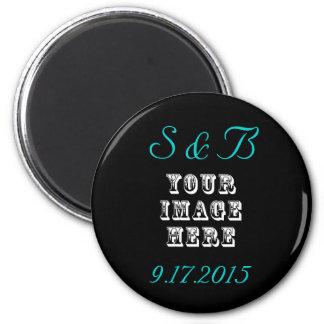 Kundenspezifische Gastgeschenk Hochzeit Runder Magnet 5,1 Cm