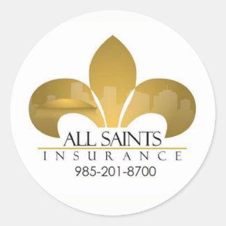 Kundenspezifische Geschäfts-Logo-Aufkleber Runder Aufkleber