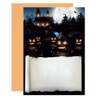 Kundenspezifische gespenstische Nacht Halloweens Karte