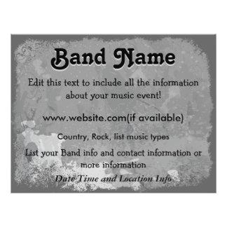 Kundenspezifische graue Schmutz-Band Flyer