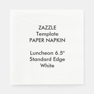 Kundenspezifische große WEISSE Papierservietten