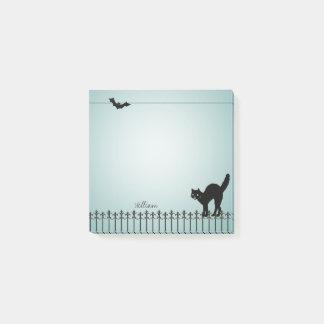 Kundenspezifische Hintergrund-Farbe - schwarze Post-it Klebezettel