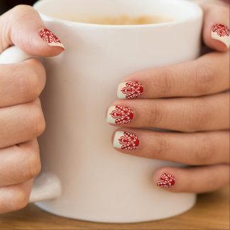 Kundenspezifische Hintergrund-Verzierung Minx Nagelkunst