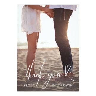 Kundenspezifische Hochzeit danken Ihnen Foto-Karte 12,7 X 17,8 Cm Einladungskarte
