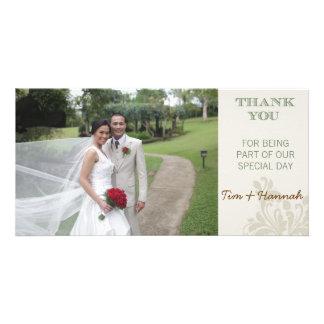 Kundenspezifische Hochzeit danken Ihnen Foto-Karte Bilderkarte