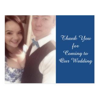 Kundenspezifische Hochzeit danken Ihnen Geschenk Postkarte