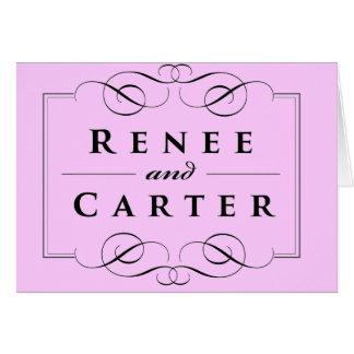 Kundenspezifische Hochzeit danken Ihnen Karten
