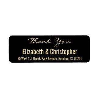 Kundenspezifische Hochzeit danken Ihnen Rücksendeetikett