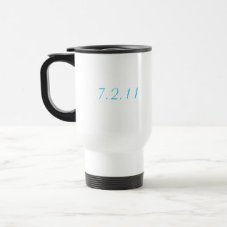 Kundenspezifische Hochzeits-Datums-Tasse Edelstahl Thermotasse