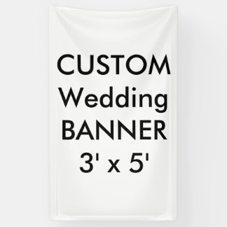 Kundenspezifische Hochzeits-Fahne 3' x 5' Banner
