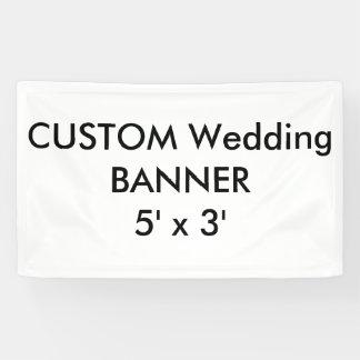 Kundenspezifische Hochzeits-Fahne 5' x 3' Banner