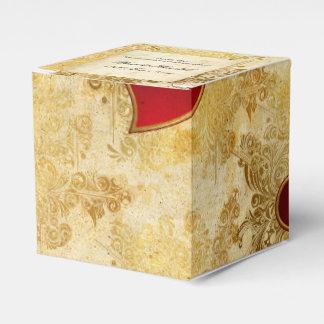 Kundenspezifische Hochzeits-goldene Geschenkschachtel
