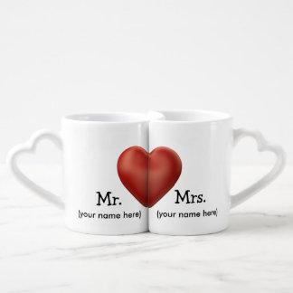Kundenspezifische Hochzeits-Kaffee-Tassen Partnertassen